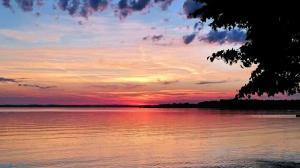 Chiemsee-Sonnenuntergang